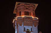Christmas Holiday Scenery Photos - Night Tower by Kenneth Albin