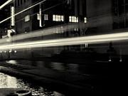 Night Train Black And White Print by Joshua House