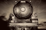 Steam Locomotive Framed Prints - Night Train Framed Print by Edward Fielding