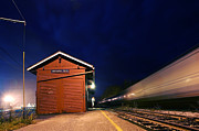 Montpellier Prints - Night Train in Montpellier Print by Darin Volpe