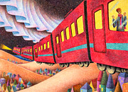 Aurora Drawings - Night train by T Koni