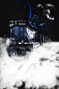 Express Way Photos - Night Train by Todd and candice Dailey