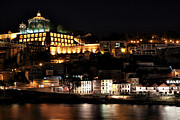 School Houses Framed Prints - Night View from Porto Framed Print by John Rizzuto