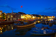 Colonial Scene Posters - Night view of Hoi An City Vietnam Poster by Fototrav Print