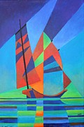 Fishing Enthusiast Art - Nightboat by Tracey Harrington-Simpson