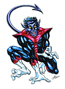 Superhero Mixed Media - Nightcrawler by John Ashton Golden