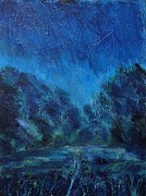 Semi Abstract Paintings - Nightfall by Nikki Wheeler