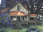 Freed Paintings - Nightfall on a Freedmans House by Alexandria Weaselwise Busen
