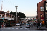 Fisheries Prints - Nightfall Over Monterey Cannery Row California 5D25144 Print by Wingsdomain Art and Photography