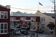 Fisheries Prints - Nightfall Over Monterey Cannery Row California 5D25148 Print by Wingsdomain Art and Photography