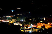 Gatlinburg Prints - Nightlight in Gatlinburg Print by Cynthia Deal-Mask