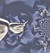 Angel Blues Prints - Nights in White Satin Print by Absinthe Art By Michelle LeAnn Scott