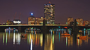 John Hancock Building Prints - Nightscape on the Charles Print by Joann Vitali