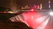 Adam Jewell - Nighttime Niagara Falls Panorama