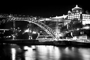Historic Center Framed Prints - Nighttime on the Douro Framed Print by John Rizzuto