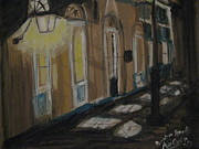 Night Lamp Pastels - Nightwalk at French Quarter by Agata Suchocka-Wachowska