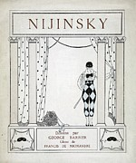 Dot Painting Framed Prints - Nijinsky Title Page Framed Print by Georges Barbier