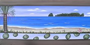 Aotearoa Paintings - Nikau at Hahei Beach by Astrid Rosemergy