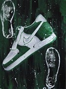 Sneaker Originals - Nike Af1 green by Janee Alexander