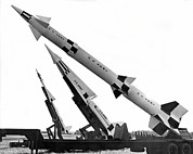 Nike Metal Prints - NIke Air Defense Missiles Metal Print by Underwood Archives