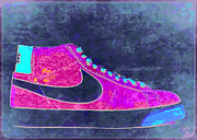 Nike Shoes Prints - NIke Blazer 2 Print by Alfie Borg