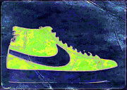 Nike Digital Art Metal Prints - Nike Blazer 3 Metal Print by Alfie Borg