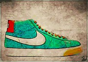 Nike Digital Art Metal Prints - Nike Blazers Metal Print by Alfie Borg