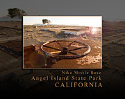 Sausalito Prints - Nike Missile Base at Angel Island State Park - San Francisco California Print by David Rigg