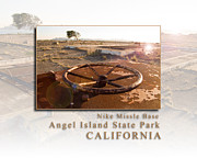 Sausalito Metal Prints - Nike Missile Base at Angel Island State Park - San Francisco California HK Metal Print by David Rigg