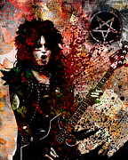 Heavy Metal Paintings - Nikki Sixx - Motley Crue  by Ryan Rabbass