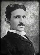 Alternating Current Photos - Nikola Tesla by Daniel Hagerman