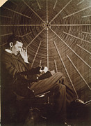 Featured Metal Prints - Nikola Tesla Metal Print by Granger
