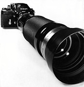 Nikon Photos - Nikon F with 85-250mm Zoom by Murray Bloom