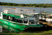 Africa Prints - Nile Ferry Crossing and Tour Boats near Paraa Murchison Falls National Park Uganda Africa Print by Robert Ford