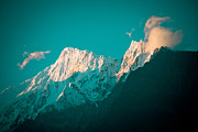 Kali Posters - Nilgiri mountain in Himalayas with cloud Poster by Raimond Klavins