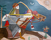 Serfinski Painting Originals - Nimrod the mighty warrior by Karen Serfinski