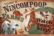 Hay Metal Prints - Nincompoop Farms Metal Print by JQ Licensing
