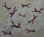 Shamanic Prints - Nine Foxes Print by Sophy White