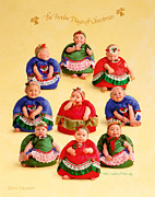 Christmas Art Prints - Nine Ladies Dancing Print by Anne Geddes