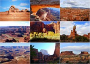 Catherine White Framed Prints - Nine Utah Landmarks Framed Print by Catherine Sherman