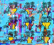 T Shirts Prints - Nine Vases Print by Patrick J Murphy