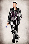 Typography Print Framed Prints - Ninth Doctor - Doctor Who Framed Print by Ayse T Werner
