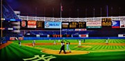 Baseball Stadiums Painting Framed Prints - Ninty-Six Pinstripe No-No Framed Print by Thomas  Kolendra