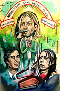 Dave Grohl Paintings - Nirvana by Britt Kuechenmeister