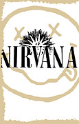 Guitar Player Prints - Nirvana No.06 Print by Caio Caldas
