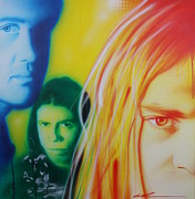 Kurt Cobain Metal Prints - Nirvanarysm Metal Print by Christian Chapman Art