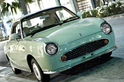 Beverly Hills Digital Art Metal Prints - Nissan Figaro Metal Print by Jason Abando