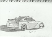 Awesome Drawings Originals - Nissan GT-R by Kyle Goodyear