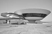 Contemporary Art Museum Framed Prints - Niteroi Museum Framed Print by Christian Heeb