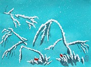 First Snow Paintings - Niwa ni Hatsuyuki by Pg Reproductions